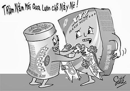 Tranh biếm họa về thực phẩm giả, kém chất lượng, mất vệ sinh - hình 3