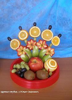 фруктовый букет своими руками