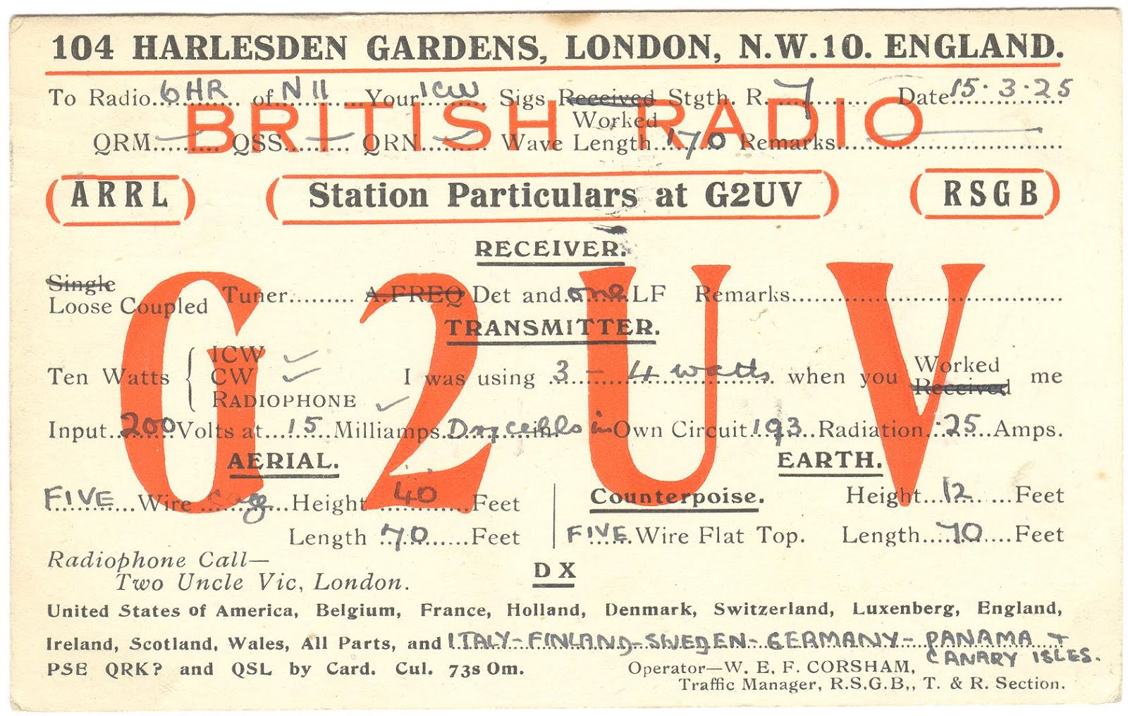 The G4UZN QSL Collection