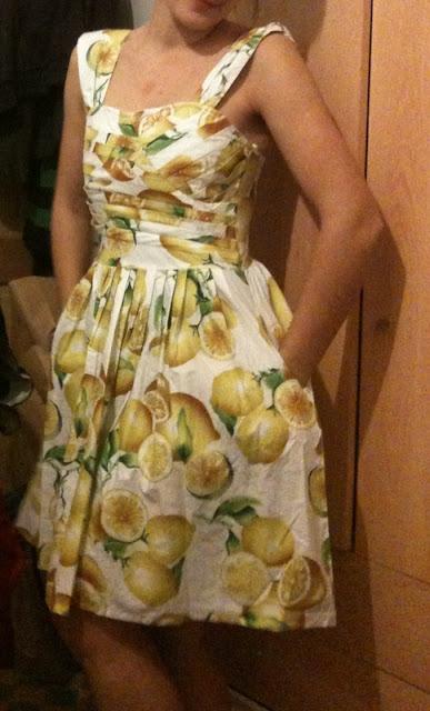 summer lemonade, limon dress, dress, vestidos de verano