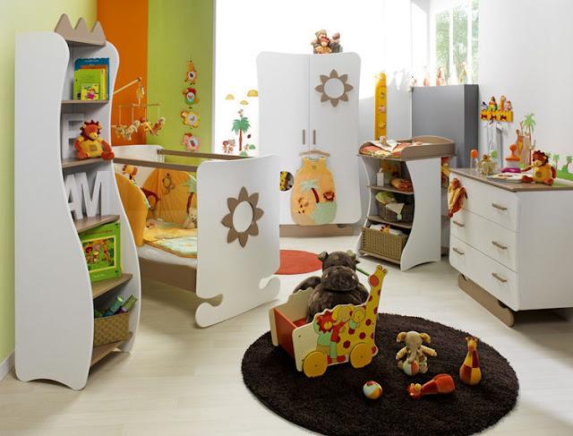 Idee Deco Chambre Garcon Kaki : chambre de bébé unisex  idées déco pour maison moderne