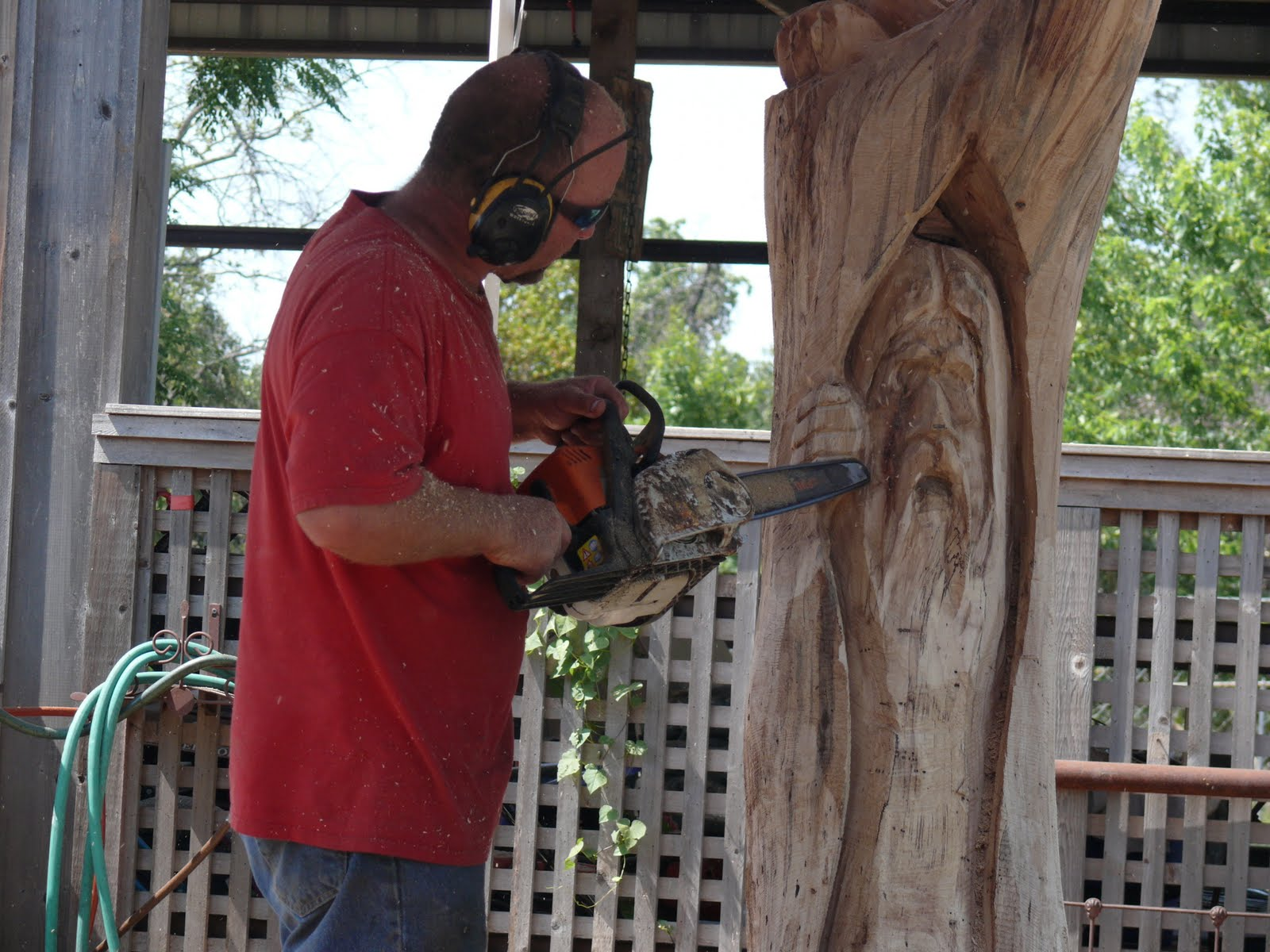 Mickey and me oklahoma chainsaw carvings