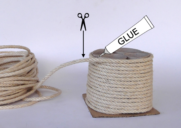 crafts with rope, pencil holder with rope,