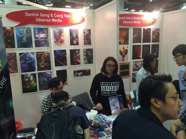 Singapore Toy, Game & Comic Convention STGCC 2015 artist alley 3dsense media school