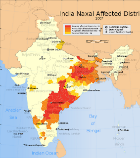 India Naxal affected districts map