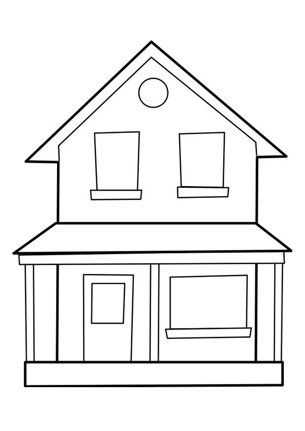 Раскраски дома - 8