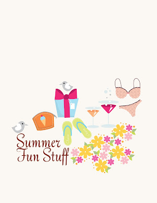 Vector summer icons & objects