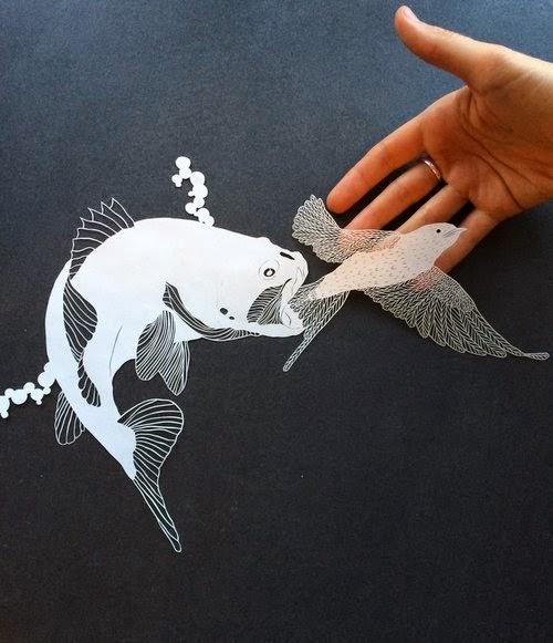 Maude White arte de papel figuras recortadas vazadas