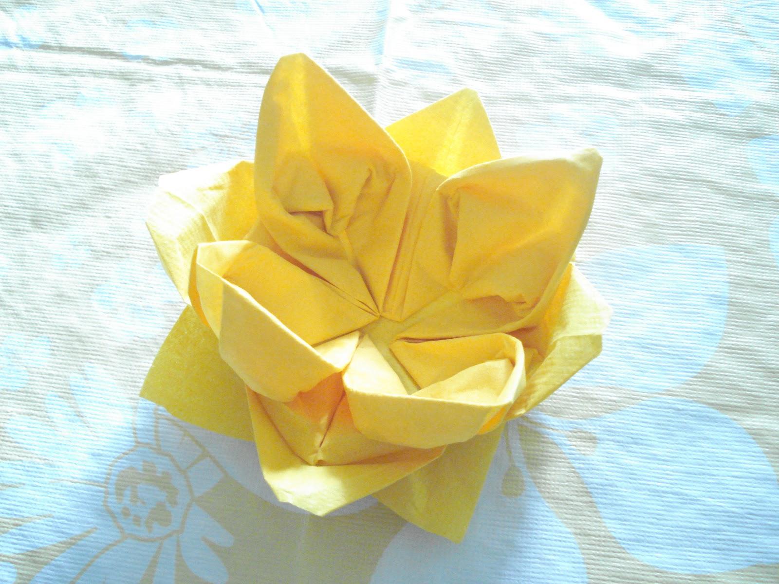 New 714 Origami Flower Paper Napkin Origami Flower