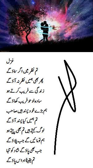 urdu gazal ,urdu romantic gazal