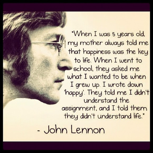 """Wise words from Mr. John Lennon himself - what a philosopher"""