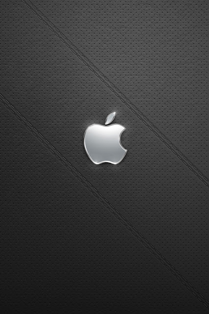 Shiny Silver Apple iPhone Wallpaper By TipTechNews.com