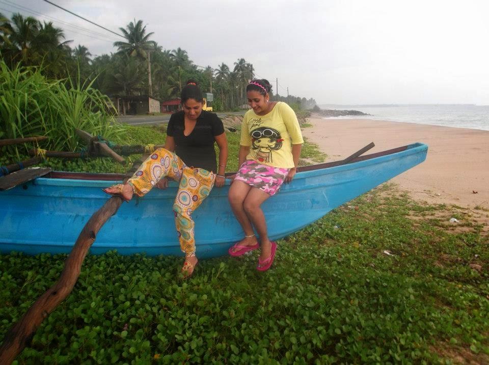 Madhu Nithyani at hikkaduwa beach
