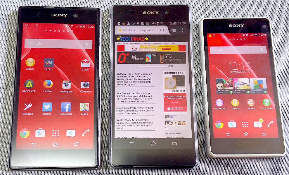 Android Lollipop Sony Xperia