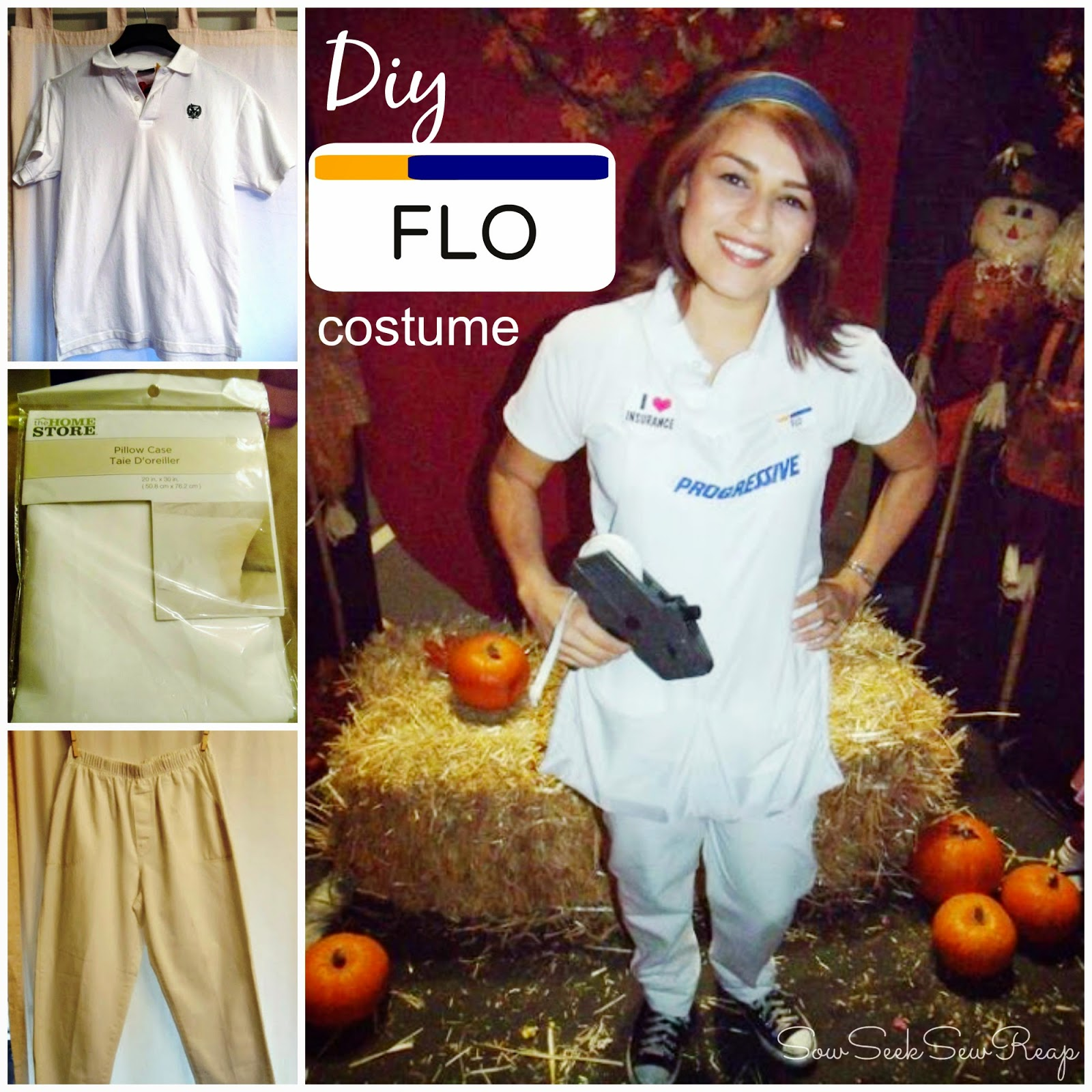 DIY FLO COSTUME, DIY APRON, DIY COSTUME