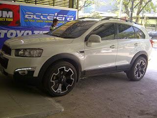 Modifikasi Chevrolet Captiva Putih