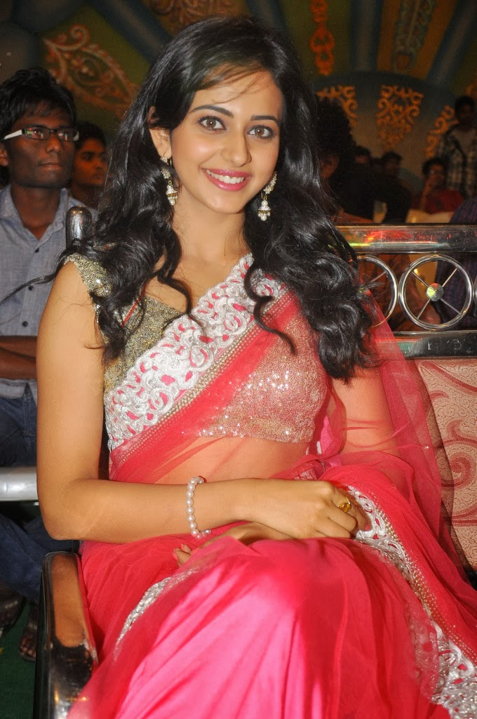 Beautiful Rakul preet singh photos in red ethnic saree, Bollywood, Tollywood, hot sexy actress sizzling, curvy, pic collection, image gallery