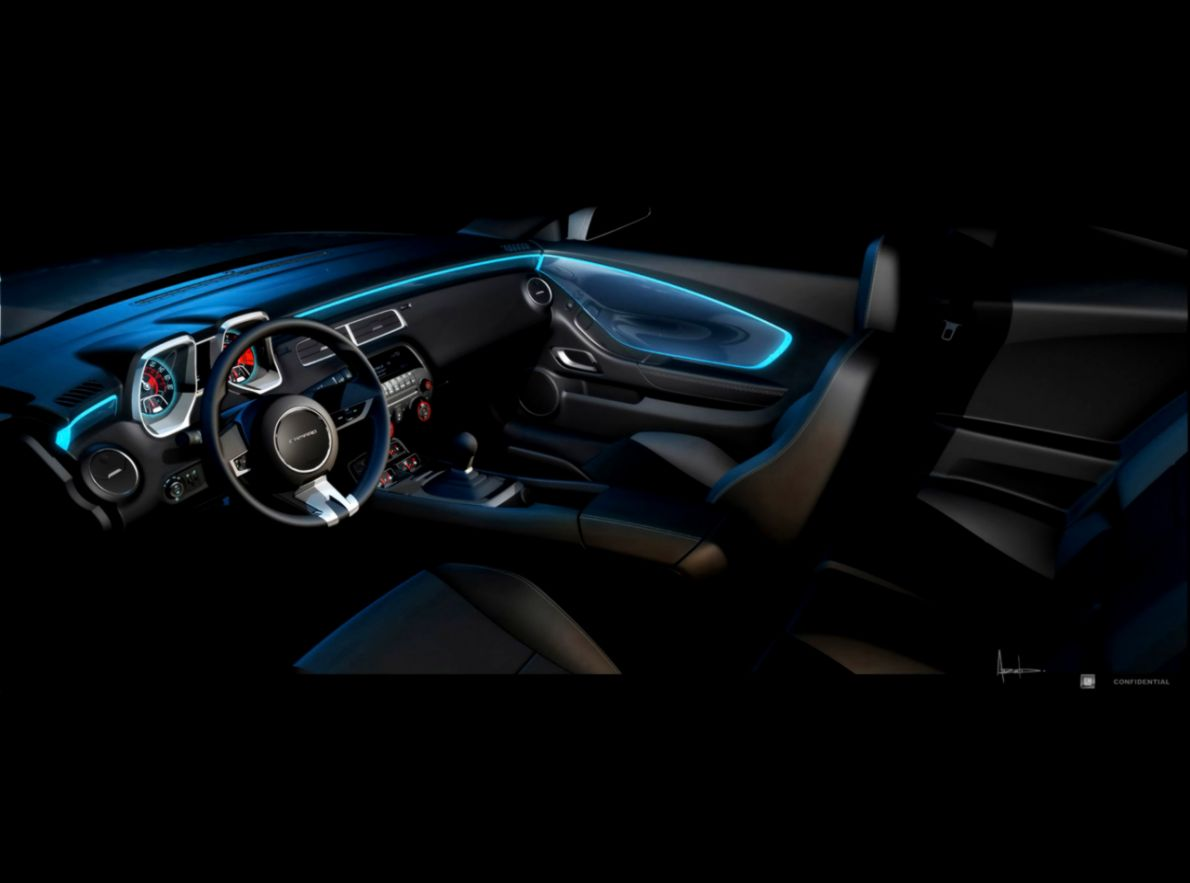 2010 Chevrolet Camaro RS   Sketch Interior   1280x960   Wallpaper