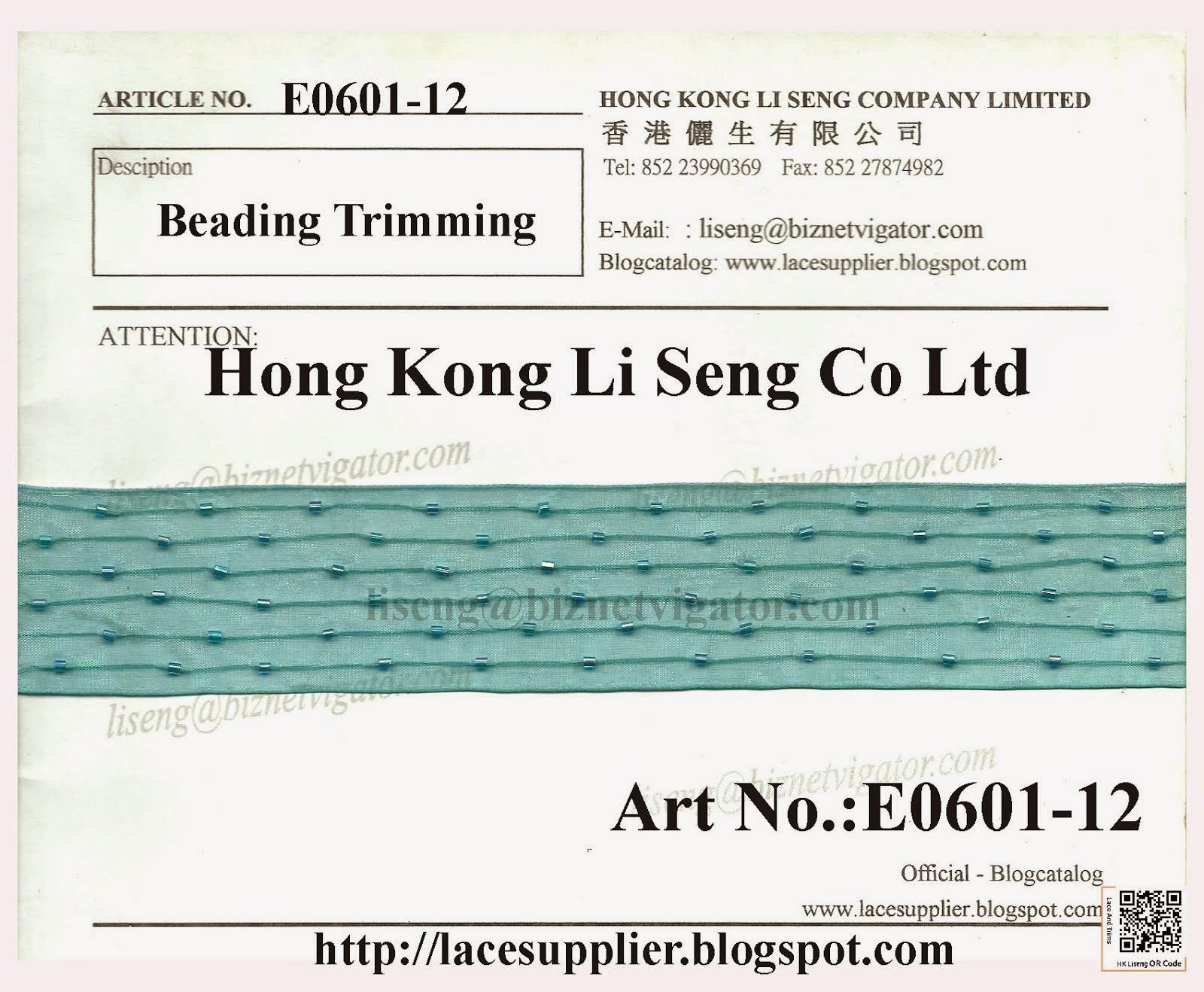Beaded Trims Manufacturer - Hong Kong Li Seng Co Ltd