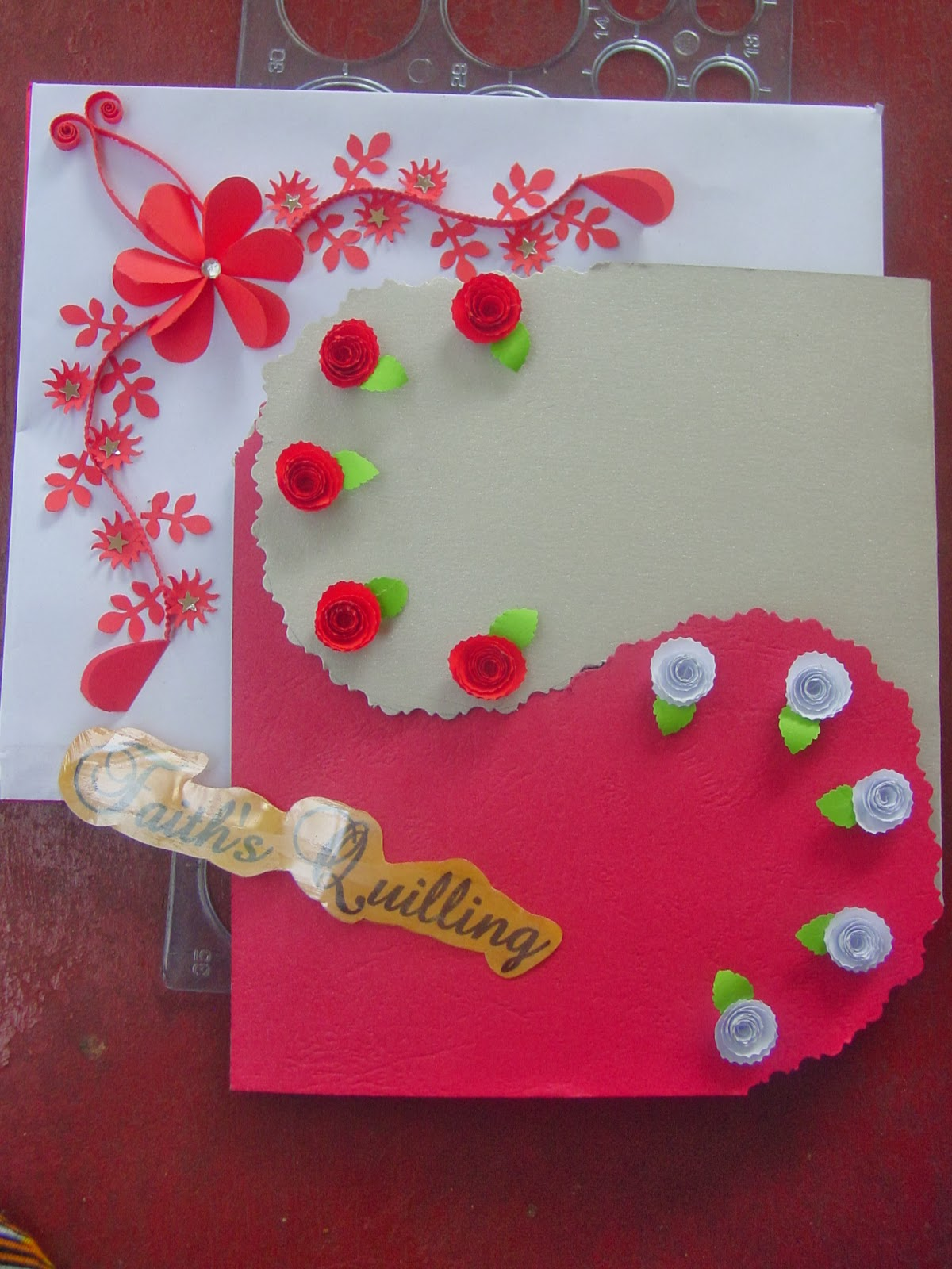 Faith S Quilling Birthday Card