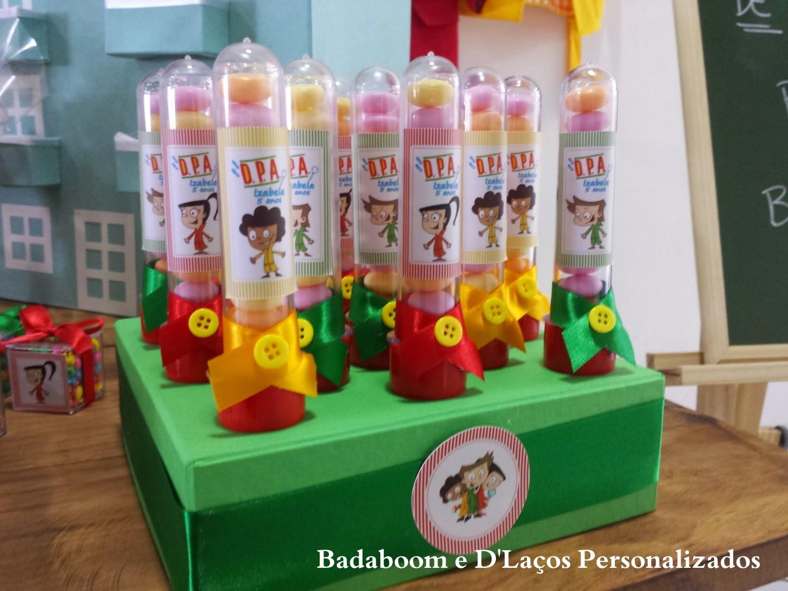 Kit Festa Infantil, Personalizados, Mimos, DPA, Detetives do Prédio Azul, Rótulos, guloseimas, cones, tubete, toppers, tags, saquinhos, placas