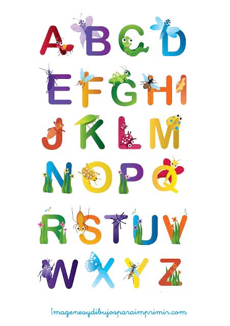 Letras con animales para imprimir imagenes y dibujos - Letras decorativas para habitaciones infantiles ...