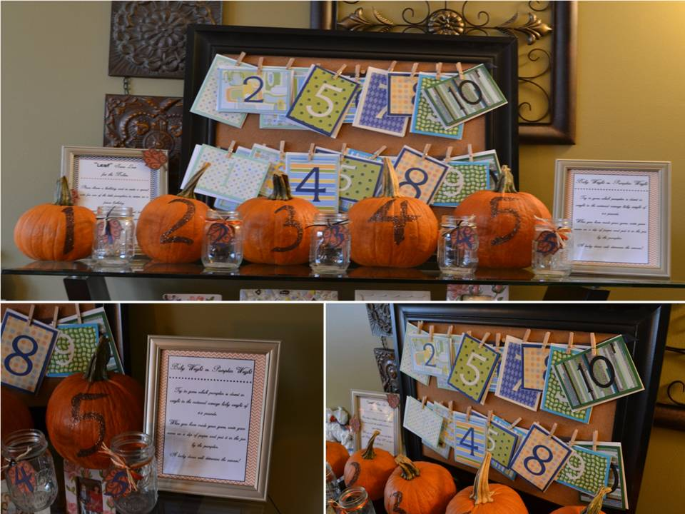 details fall themed baby shower