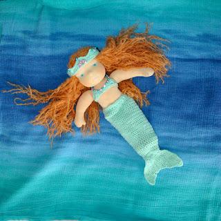 waldorf doll Muza mermaid