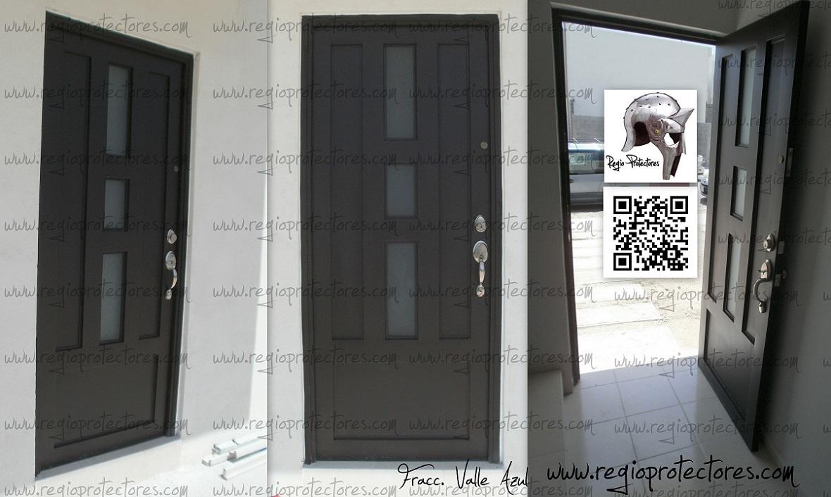 Regio protectores puerta regina for Puertas principales de herreria casas
