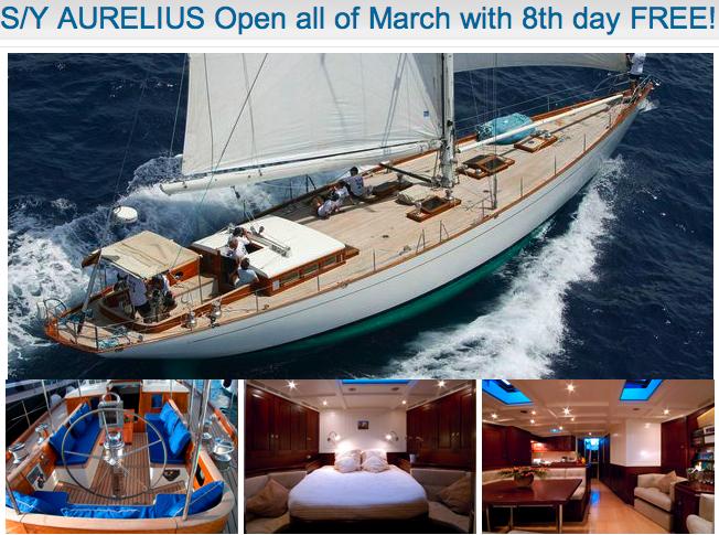The charter yacht Aurelius, a 76-foot Bestevaer 76S sloop, has some open ...
