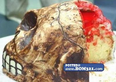 Tengkorak kek Untuk Di Makan ! skull cake to eat