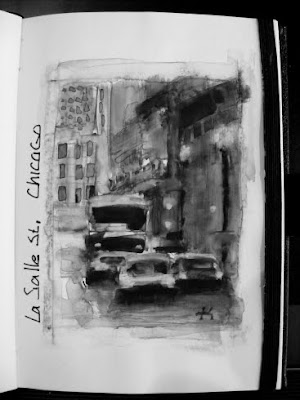 Sketchbook cityscape Chicago