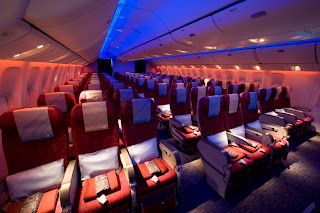 Qatar Airways Economy Class Cabin is rated as one of the world's best
