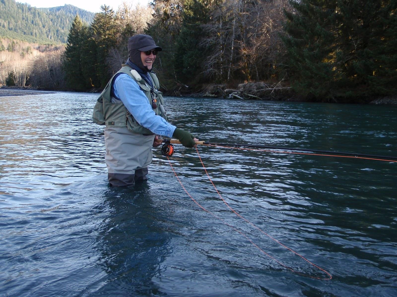 Washington fly fishing the heart of the run for Hoh river fishing report