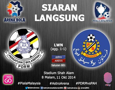 Siaran Langsung PDRM Vs Pahang Suku Akhir Kedua Piala Malaysia 2014