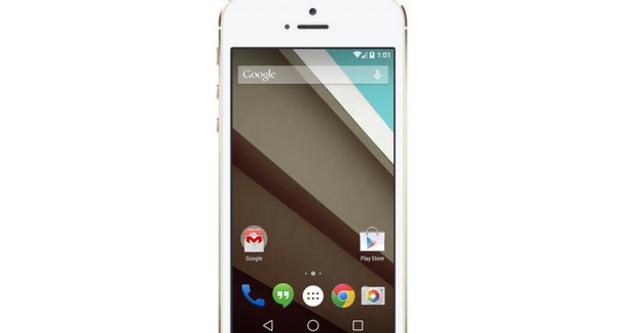 iPhone 5s chạy... Android L sẽ thế nào?