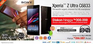 Promo Sony Xperia Z Ultra LTE C6833 di Blibli