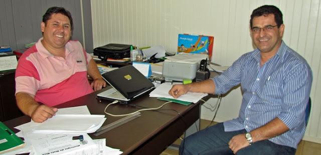 Mato Rico: Prefeito Marcel recebe visita do vice-prefeito de Roncador