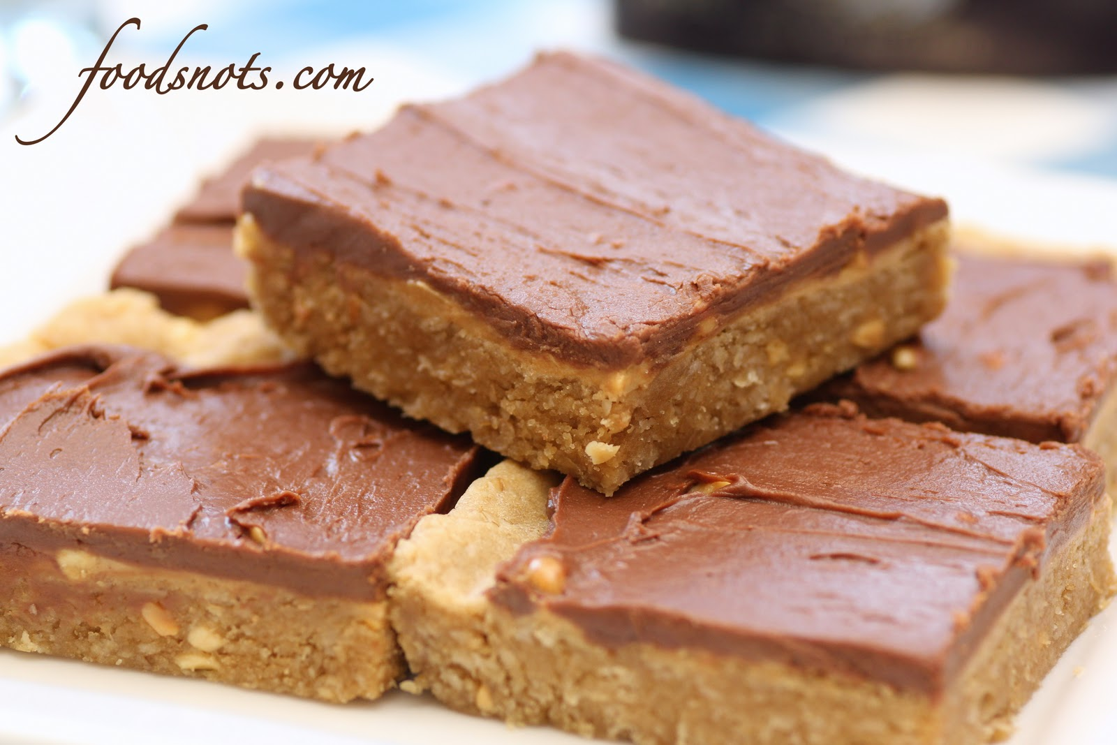 Recipe Snobs: Chocolate-Frosted Peanut Butter Cookie Bars