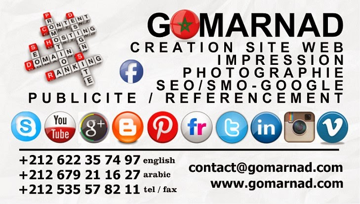 Gomarnad - Website design , Online publicity , SEO , Printing services