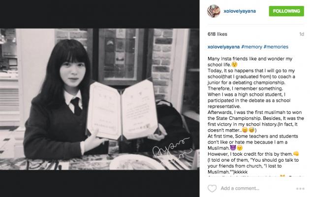 Gadis korea berhijab ini baru saja memeluk Islam dan ...