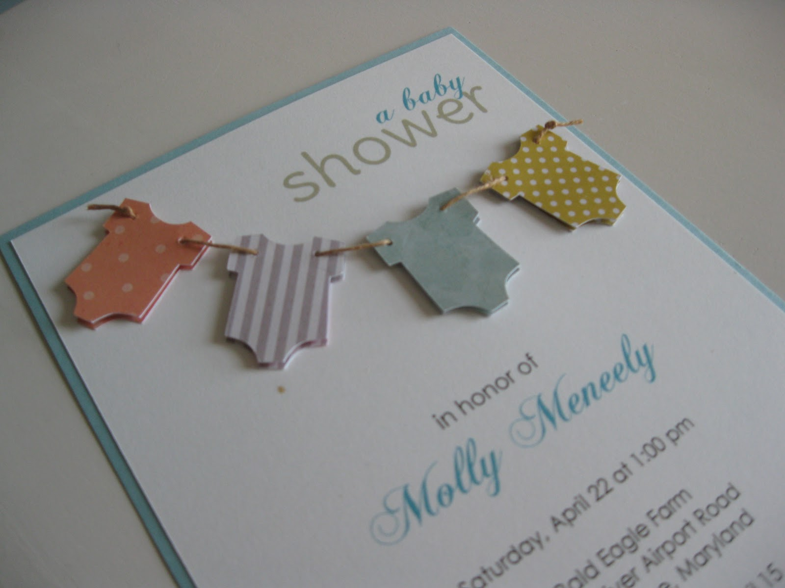 Baby shower invitations my bucket list of crafts recipes and instead i made one with paper see baby shower decorations post and carried her idea to the invitation solutioingenieria Choice Image