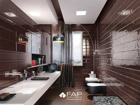 Baños Decorados Hermosos:Diseño de baño moderno completamente revestido en elegante cerámica