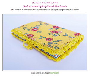 yellow lace notebook chez violette