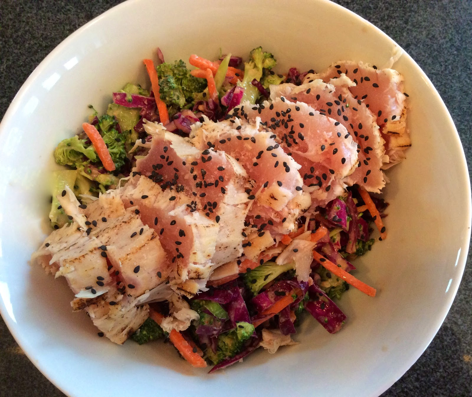 Pinks Pantry: Ahi Tuna Salad with Miso Slaw