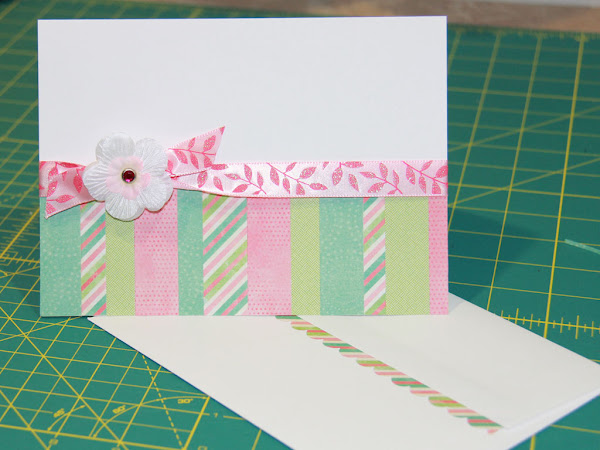 Scrappy A7 Card and Accented Envelope
