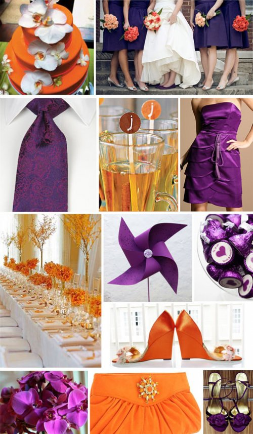 Purple and Orange wedding theme