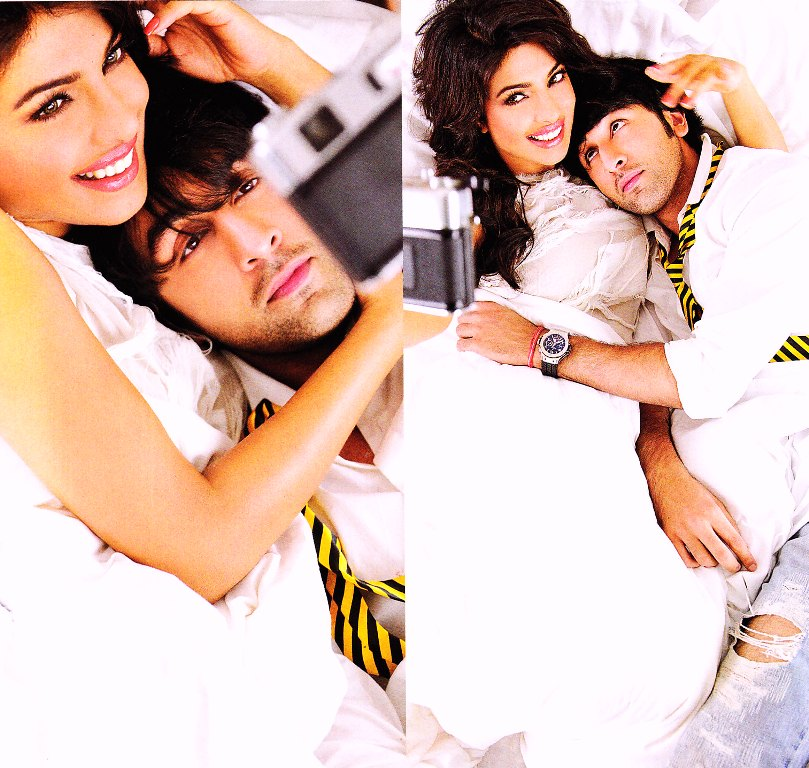 Priyanka Chopra Ranbir Kapoor HQ Wallpaper - Cute