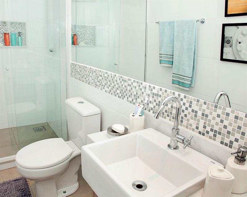 Casa Nova Inspiração para louça e decoração dos banheiros Adoro esse deta -> Obras Banheiro Pequeno