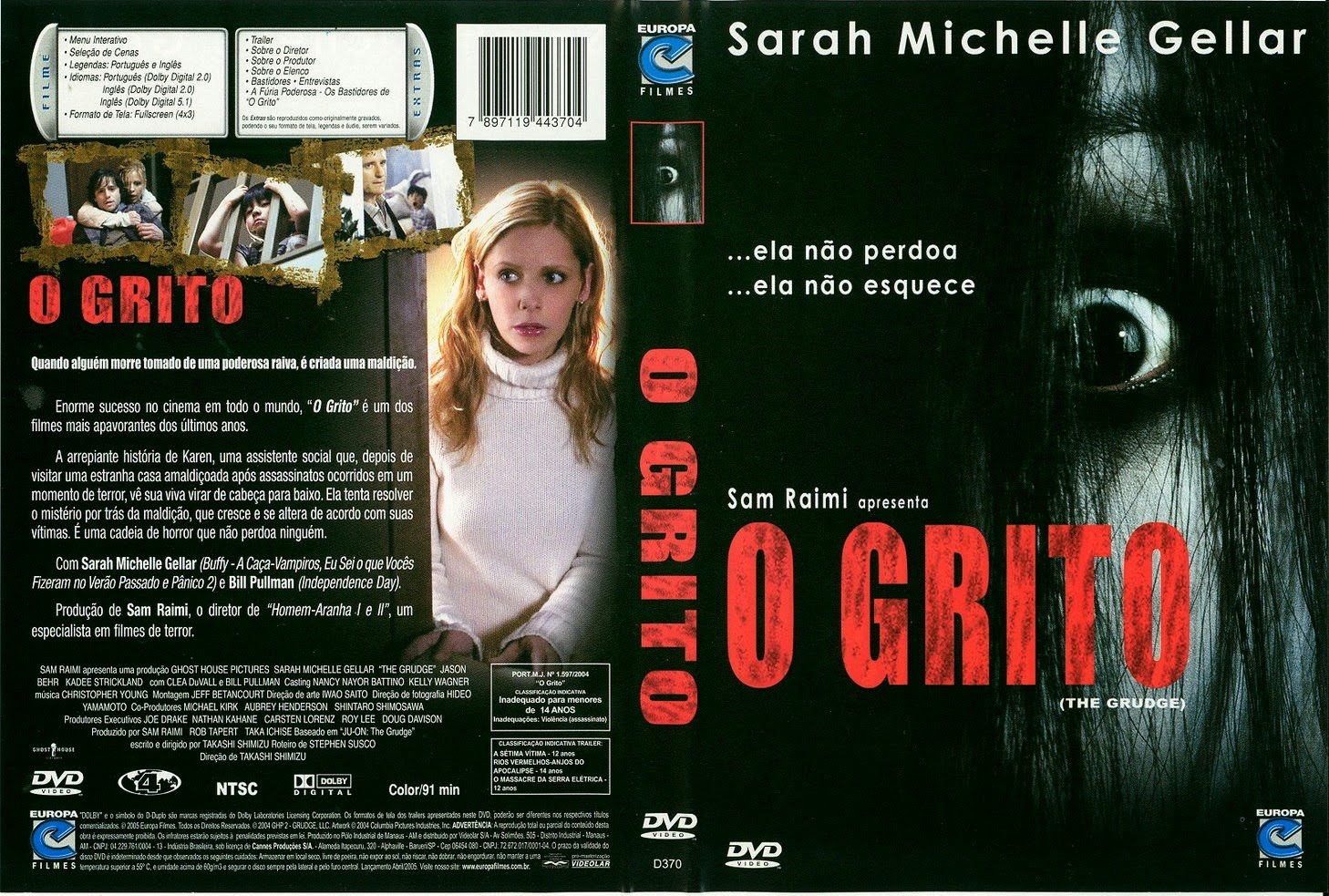 Filme O Grito DVD Capa